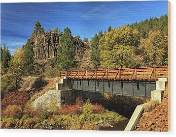 Susan River Bridge On The Bizz Wood Print by James Eddy