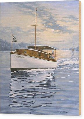 Swell Wood Print by Richard De Wolfe
