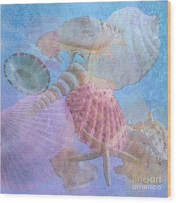 Swept Out With The Tide Wood Print by Betty LaRue