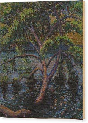 Swimming Tree Wood Print by Art Nomad Sandra  Hansen