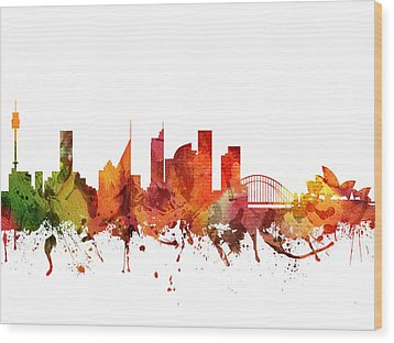 Sydney Cityscape 04 Wood Print by Aged Pixel