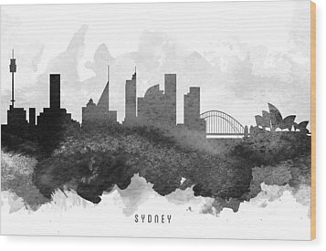 Sydney Cityscape 11 Wood Print by Aged Pixel