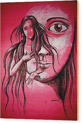 Synonym Of Love And Beauty Wood Print by Paulo Zerbato