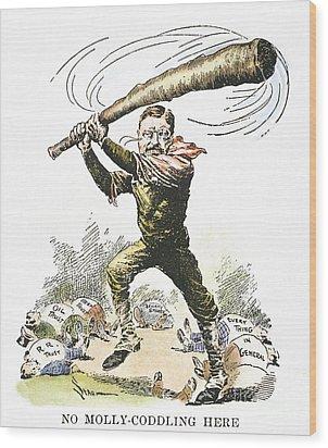 T. Roosevelt Cartoon, 1904 Wood Print by Granger
