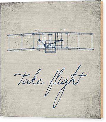 Take Flight Wood Print by Brandi Fitzgerald