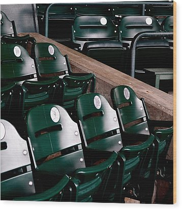 Take Me Out To The Ball Game Wood Print by Michelle Calkins