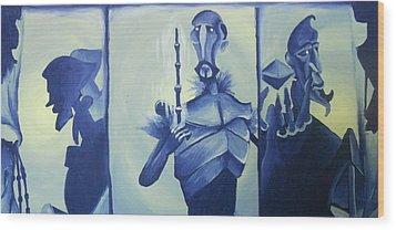 Tale Of The Three Brothers Wood Print by Lisa Leeman