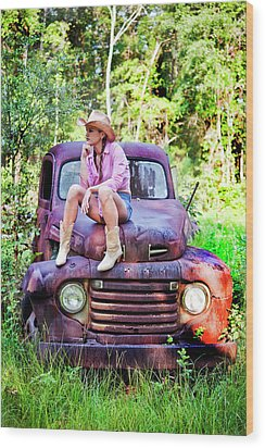 Tarin Day Dreaming Wood Print by Frank Feliciano