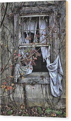 Tattered Curtain Fall '09 No.2 Wood Print by Sari Sauls