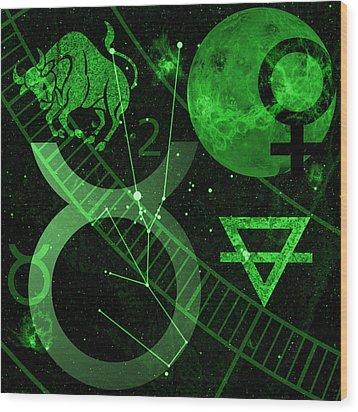 Taurus Wood Print by JP Rhea