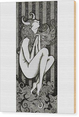Taurus Wood Print by Zelde Grimm