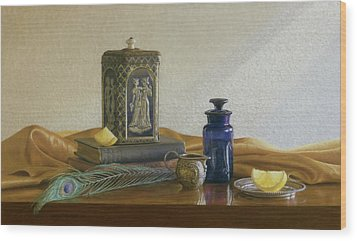 Tea With Lemon Wood Print by Barbara Groff