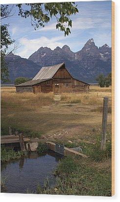 Teton Barn 2 Wood Print by Marty Koch