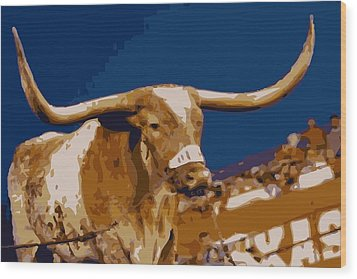 Texas Bevo Color 16 Wood Print by Scott Kelley