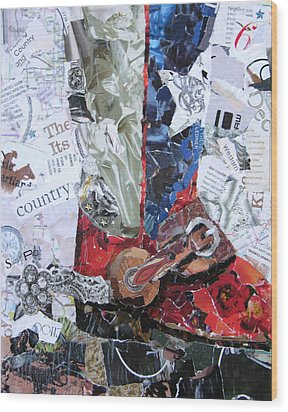 Texas Boot Wood Print by Suzy Pal Powell