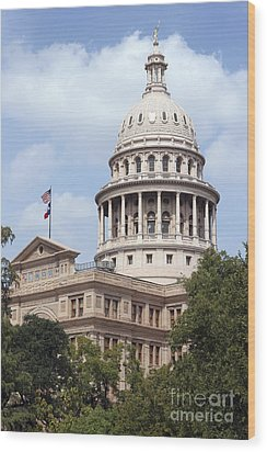 Texas Capitol Wood Print by Jeannie Burleson