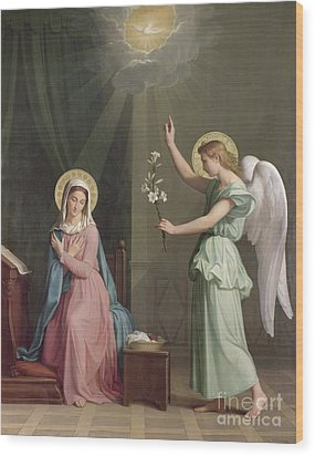 The Annunciation Wood Print by Auguste Pichon