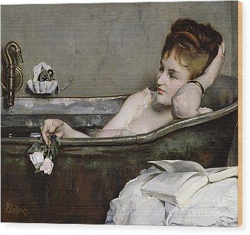 The Bath Wood Print by Alfred George Stevens