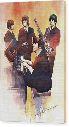 The Beatles 01 Wood Print by Yuriy  Shevchuk