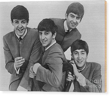 The Beatles, 1963 Wood Print by Granger