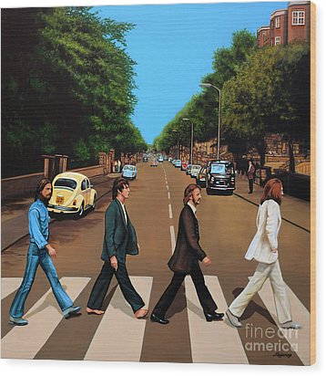 The Beatles Abbey Road Wood Print by Paul Meijering