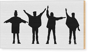 The Beatles No.07 Wood Print by Caio Caldas