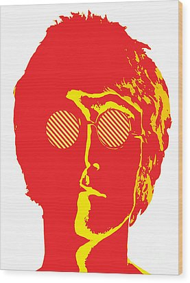 The Beatles No.09 Wood Print by Caio Caldas