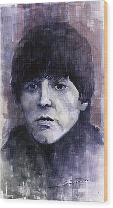 The Beatles Paul Mccartney Wood Print by Yuriy  Shevchuk