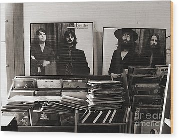The Beatles Yesterday Wood Print by Anna Payne