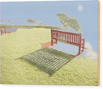 The Bench At The Edge Of The World Wood Print by Dan McCarthy