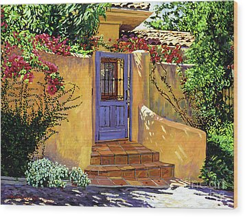 The Blue Door Wood Print by David Lloyd Glover