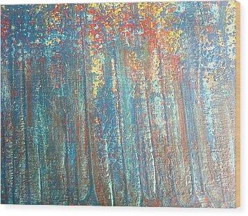 The Blue Forest Wood Print by Pradeep Gupta