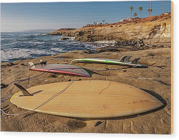 The Boards Wood Print by Peter Tellone
