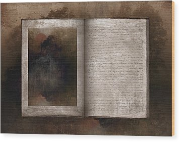 The Book Of Life Wood Print by Ron Jones