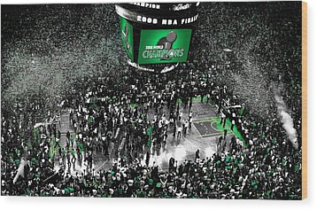 The Boston Celtics 2008 Nba Finals Wood Print by Brian Reaves