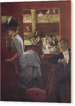 The Box By The Stalls Wood Print by Jean Beraud