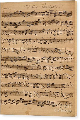 The Brandenburger Concertos Wood Print by Johann Sebastian Bach