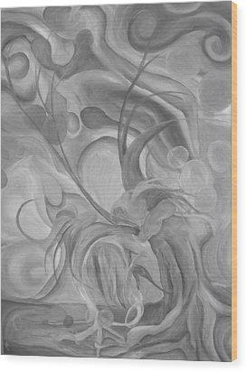 The Break Up Wood Print by Ashley Bostrom