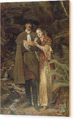 The Bride Of Lammermoor Wood Print by Sir John Everett Millais