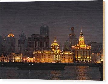 The Bund - More Than Shanghai's Most Beautiful Landmark Wood Print by Christine Till