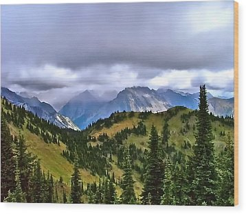 The Canadian Rockies Wood Print by Brent Sisson