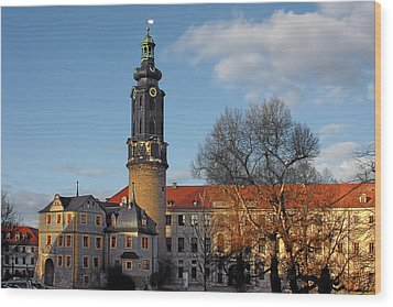 The Castle - Weimar - Thuringia - Germany Wood Print by Christine Till