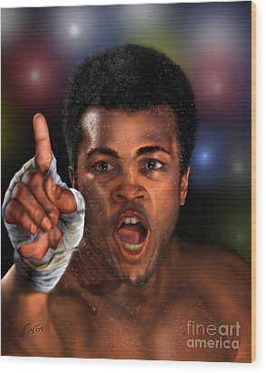 The Champ Is Here -period Wood Print by Reggie Duffie