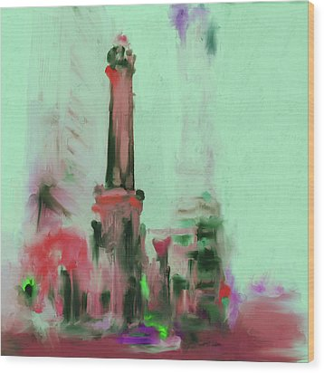 The Chicago Water Tower 535 4 Wood Print by Mawra Tahreem