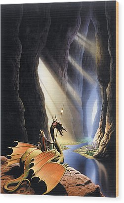 The Citadel Wood Print by The Dragon Chronicles - Steve Re