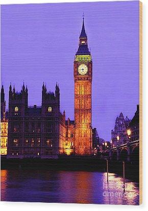 The Clock Tower Aka Big Ben Parliament London Wood Print by Chris Smith