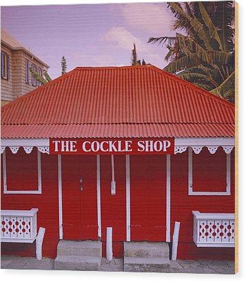 The Cockle Shop Wood Print by Shaun Higson