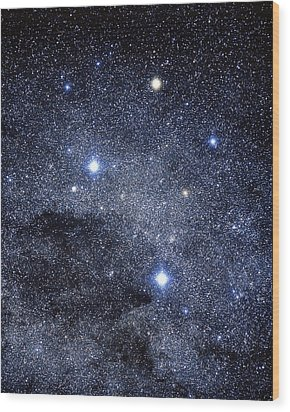 The Constellation Of The Southern Cross Wood Print by Luke Dodd