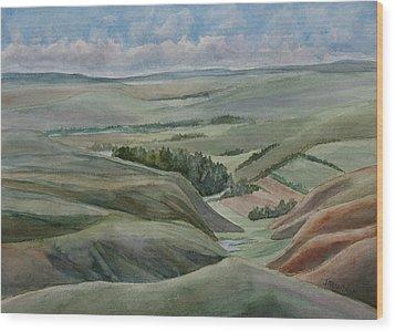 The Corrugated Plain Wood Print by Jenny Armitage