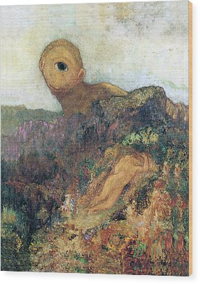 The Cyclops Wood Print by Odilon Redon